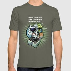 Self Aware & Not Impressed SMALL Mens Fitted Tee Lieutenant