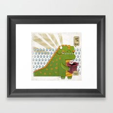 Godzilla get´s hungry!!! Framed Art Print