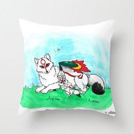 Mamaterasu Throw Pillow