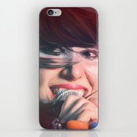 karen hallion iPhone & iPod Skins featuring Karen O by Camila Fernandez