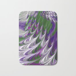 Purple and Green Abstract Bath Mat
