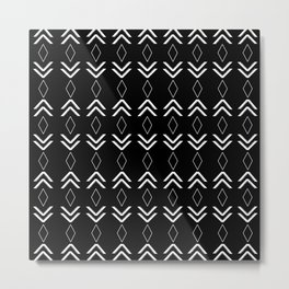 Tribal Pattern Aztec #2 #minimal #decor #art #society6 Metal Print