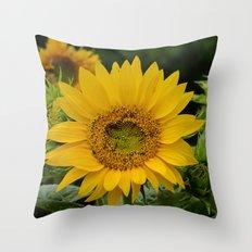 September Sunflower Throw Pillow