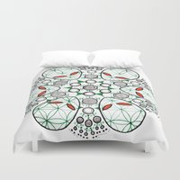 et Duvet Covers featuring ET Mandala by eyebeka