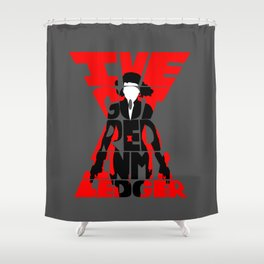 Black widow red Shower Curtain