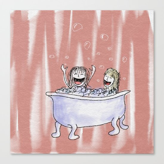 Bubble Bath Canvas Print