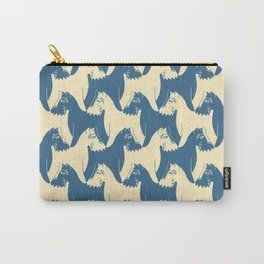Dog Pattern | Schnauzer | M. C. Escher Inspired Artwork by Tessellation Art Carry-All Pouch