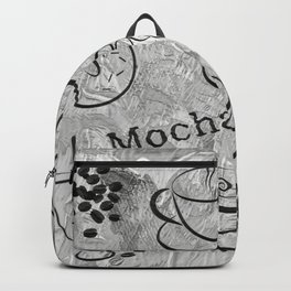 Grunge Coffee Background - Black & White 04 Backpack
