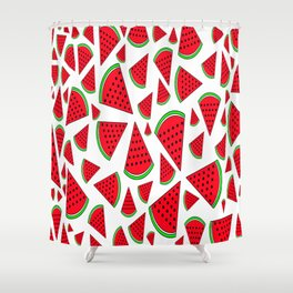 Watermelon vs. Sandia Shower Curtain