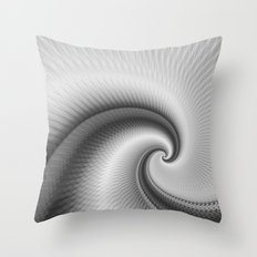 The Big Wave Spiral in Monochrome Throw Pillow