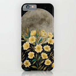Greeting the Moon - Evening Primrose iPhone Case