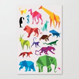 Paper Animals Canvas Print