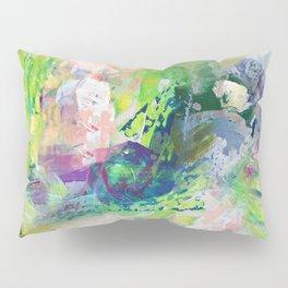 Green Paint Splash Pillow Sham
