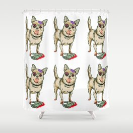 Zombie Chihuahua Shower Curtain