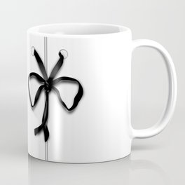 Laced Black Ribbon on White Coffee Mug