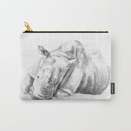 Black and white Rhino Carry-All Pouch