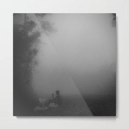 Sitting in the Mist Metal Print