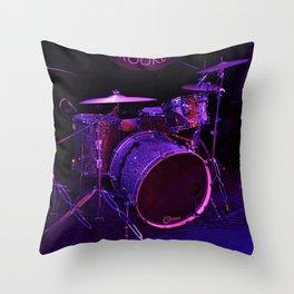 Shiny Drum-set Throw Pillow