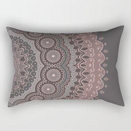 Mandala Spirit, Rose Pink, Gray Rectangular Pillow