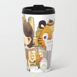 Little Girl and Little Tiger Travel Mug