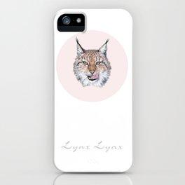 Lynx Lynx portrait iPhone Case