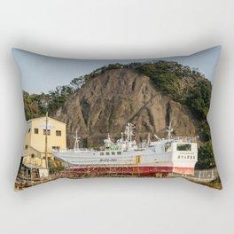 Ship Yard in Wakayama Fishing Village Rectangular Pillow
