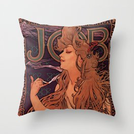 Alphonse Mucha Art Nouveau Throw Pillow