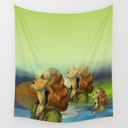 wíndow curtain lily - to the left side Wall Tapestry