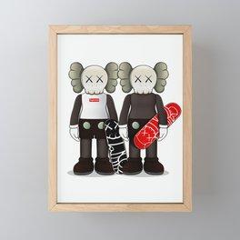 Kaws poster Framed Mini Art Print