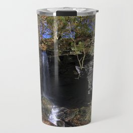Waterfall at Lumsdale Travel Mug