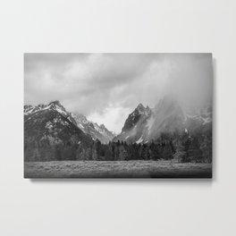 Snow In The Tetons Metal Print