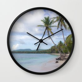 Dominican Republic Beach Wall Clock