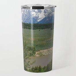 Snake River And Grand Teton Range Travel Mug