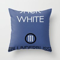 jack white Throw Pillows featuring Jack White by Tanner Wheat
