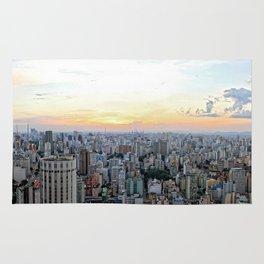 Sao Paulo Aerial At sunset Rug