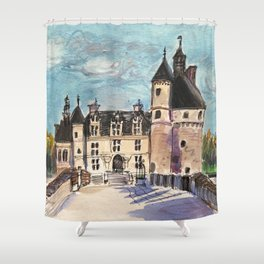 Chateau Chenanceau Shower Curtain