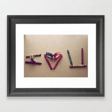 Children Love | I Love You Framed Art Print
