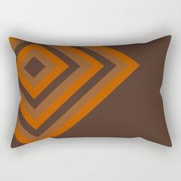 Retro Pop Art Diamonds - Brown Tan Orange Rectangular Pillow