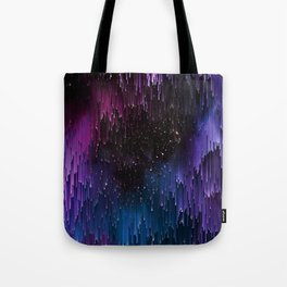 Ultra Violet Glitch Galaxy Tote Bag