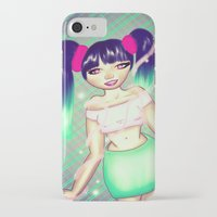 magical girl iPhone & iPod Cases featuring Magical Girl by gottalovedrawing
