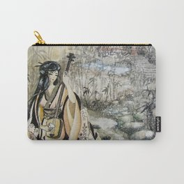 Aki No Ogawa (Creek with Bamboo) Carry-All Pouch