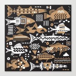 Boho Fishes II. Canvas Print