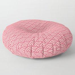 Japanese Sakura Koinobori Fish Scale Pattern Floor Pillow