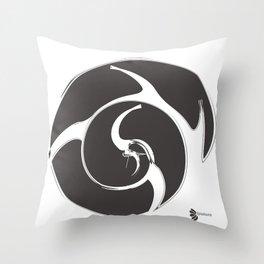 CROW GREY: be independent Throw Pillow