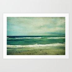 June beach Art Print