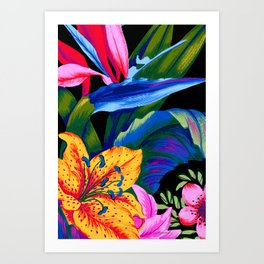 Let's Go Abstract Art Print