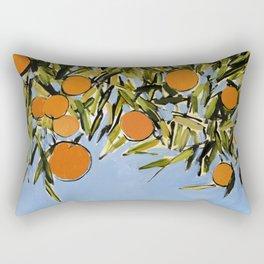 Orange Grove (Blue) Rectangular Pillow
