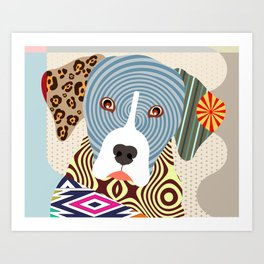 Louisiana Catahoula Leopard Dog Art Print