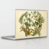 huebucket Laptop & iPad Skins featuring Botanical Pug by Huebucket