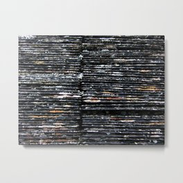 Slated Metal Print